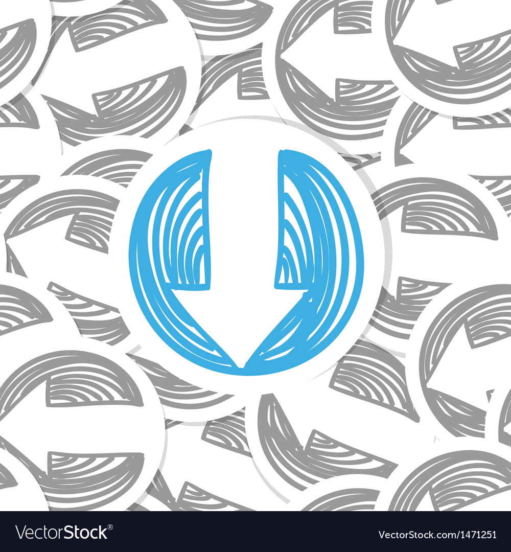 Arrows seamles background vector | Price: 1 Credit (USD $1)