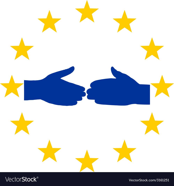European handshake vector | Price: 1 Credit (USD $1)