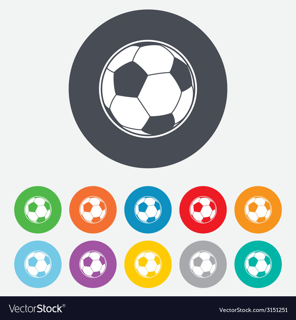 Football ball sign icon soccer sport symbol vector | Price: 1 Credit (USD $1)