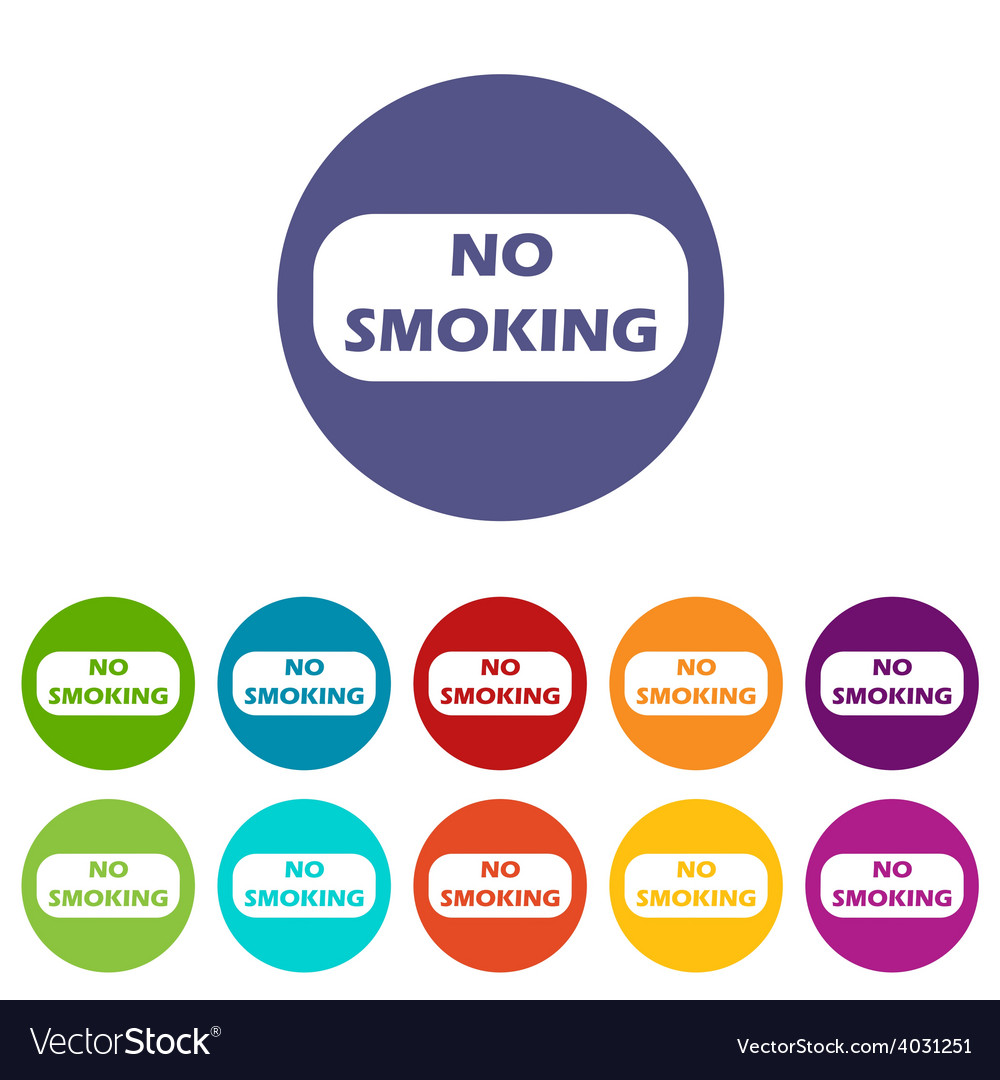 No smoking flat icon vector | Price: 1 Credit (USD $1)