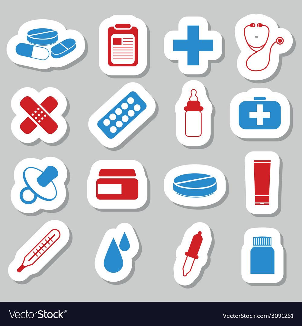 Pharmacy stickers vector | Price: 1 Credit (USD $1)