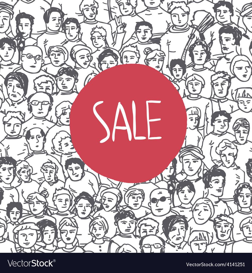 Sales crowd concept vector | Price: 1 Credit (USD $1)