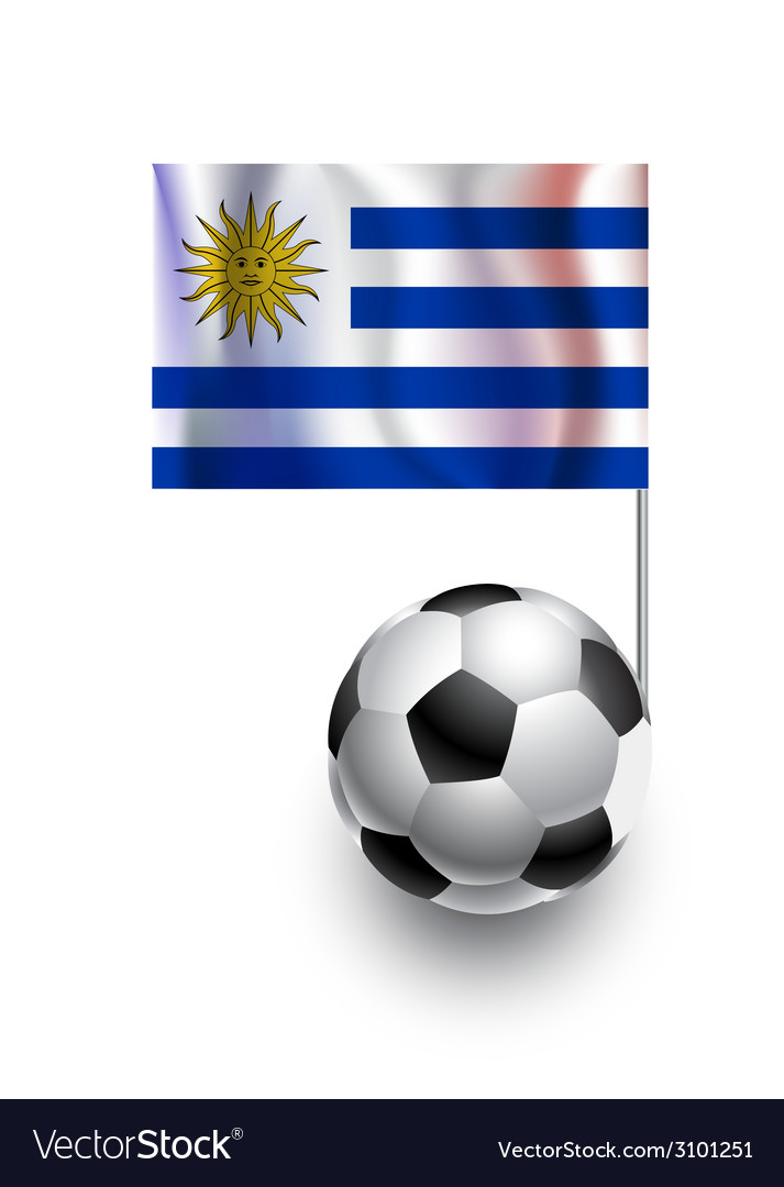 Soccer balls or footballs with flag of uruguay vector   Price: 1 Credit (USD $1)
