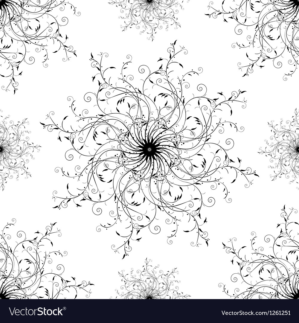 Trendy fashion scroll pattern vector | Price: 1 Credit (USD $1)