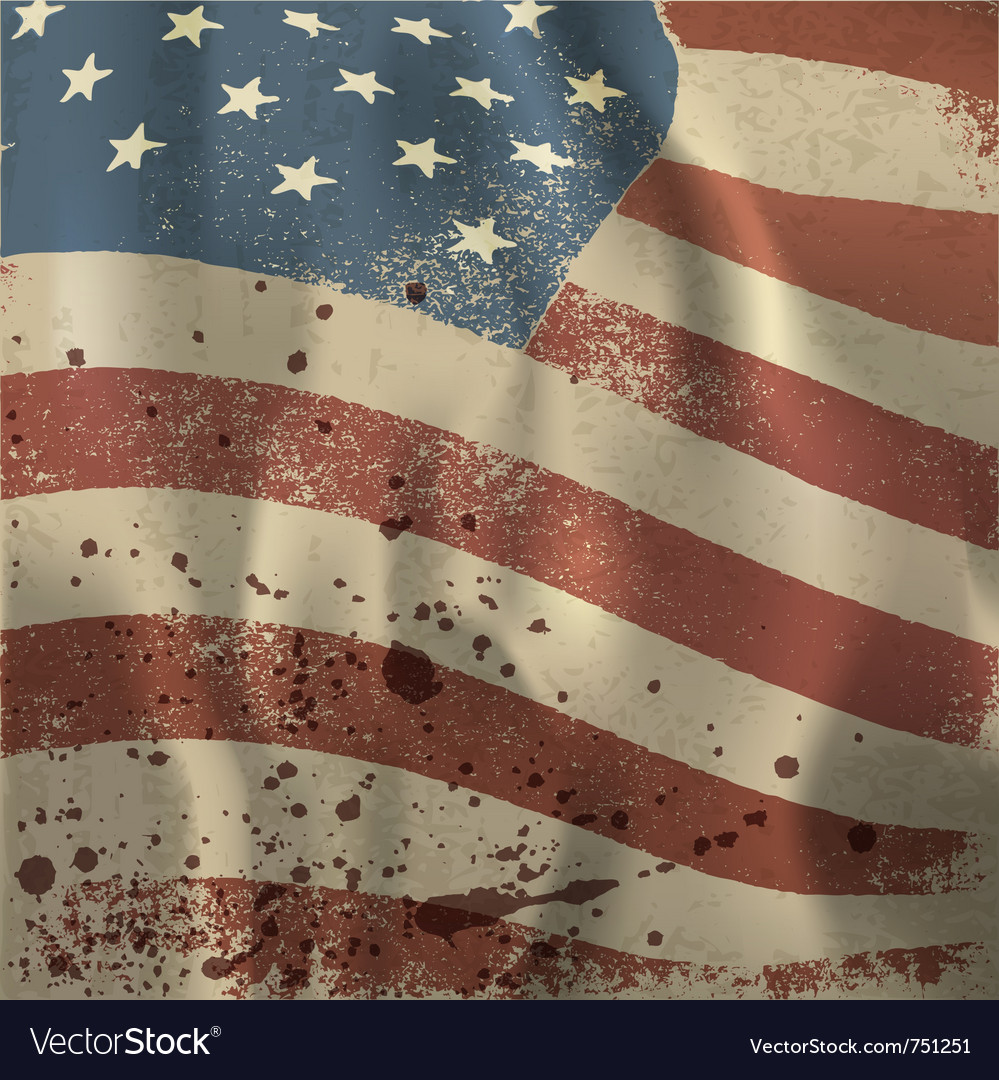 Vintage american flag vector | Price: 1 Credit (USD $1)