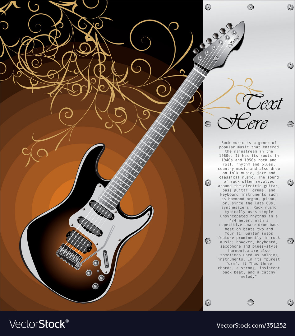 Classic stratocaster vector | Price: 1 Credit (USD $1)