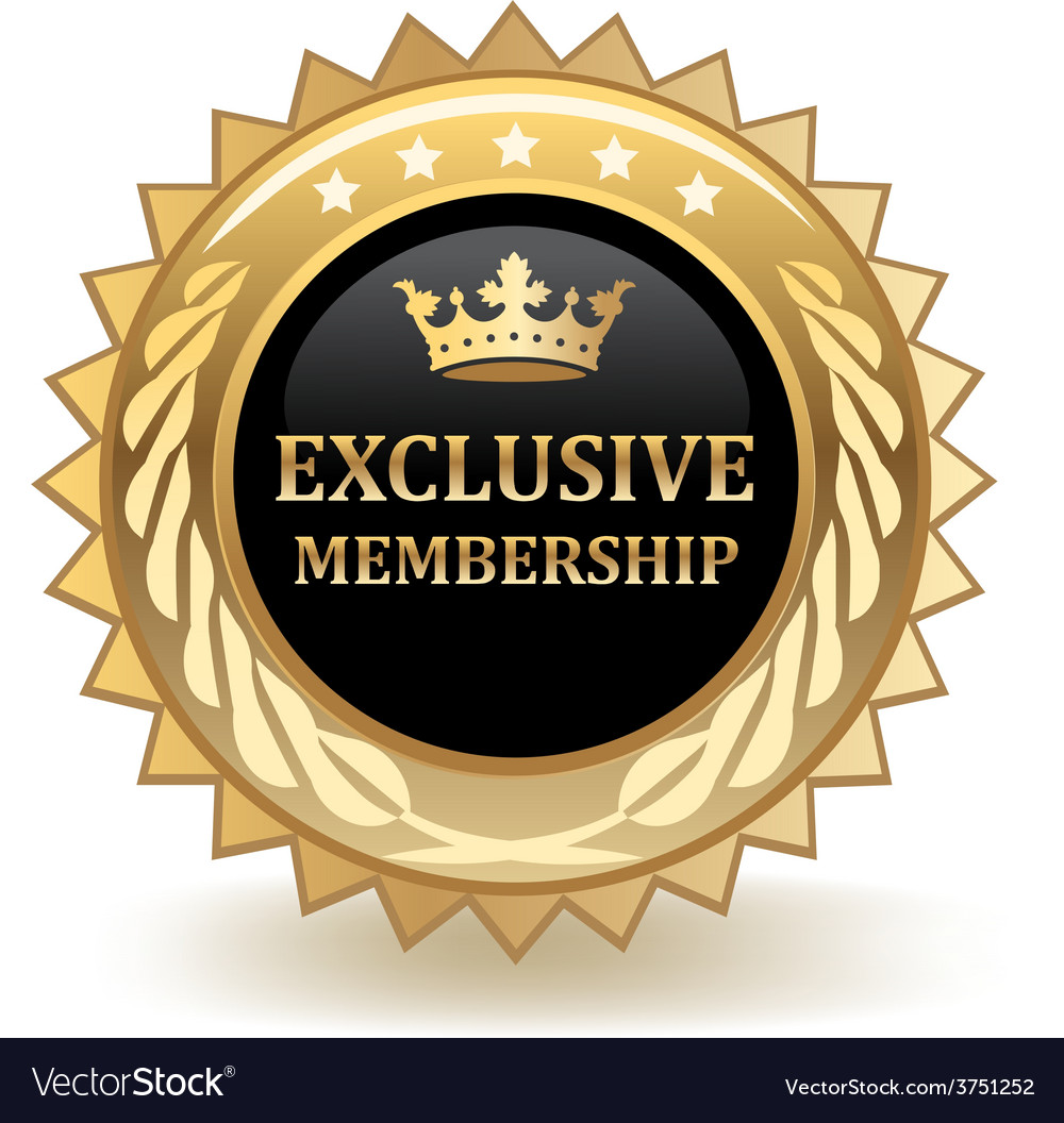 Exclusive membership badge vector | Price: 1 Credit (USD $1)