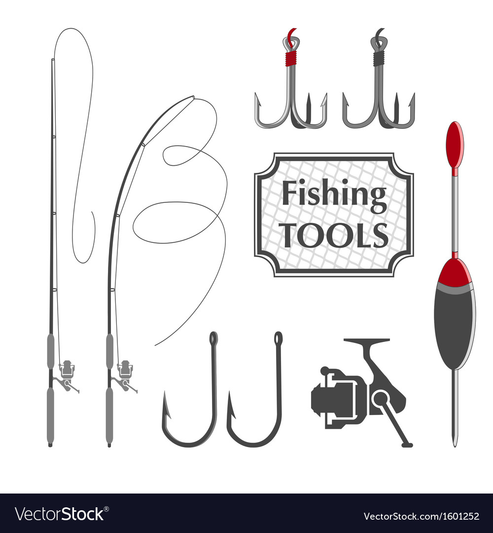Fishing tools vector | Price: 1 Credit (USD $1)
