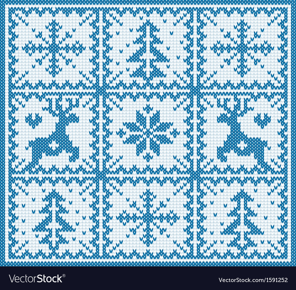Knitting winter pattern vector | Price: 1 Credit (USD $1)