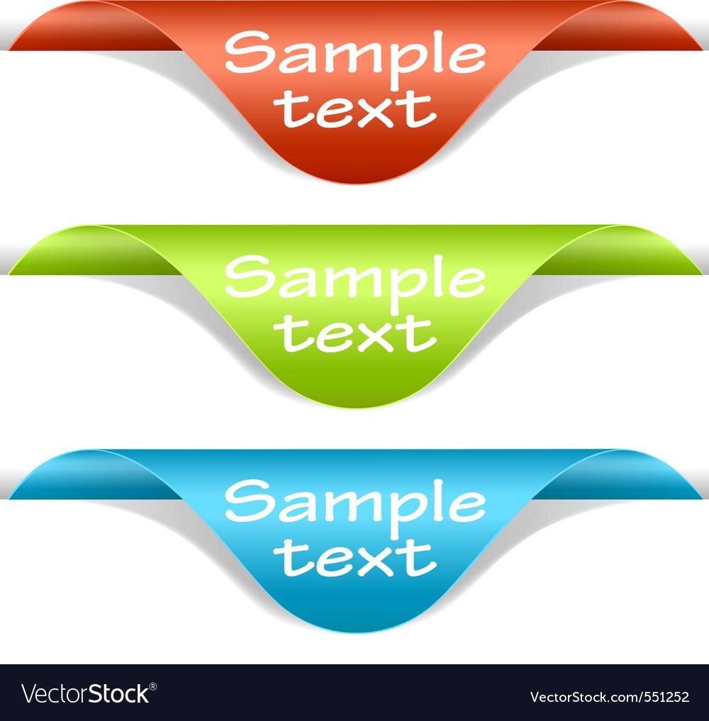 Label corners vector | Price: 1 Credit (USD $1)