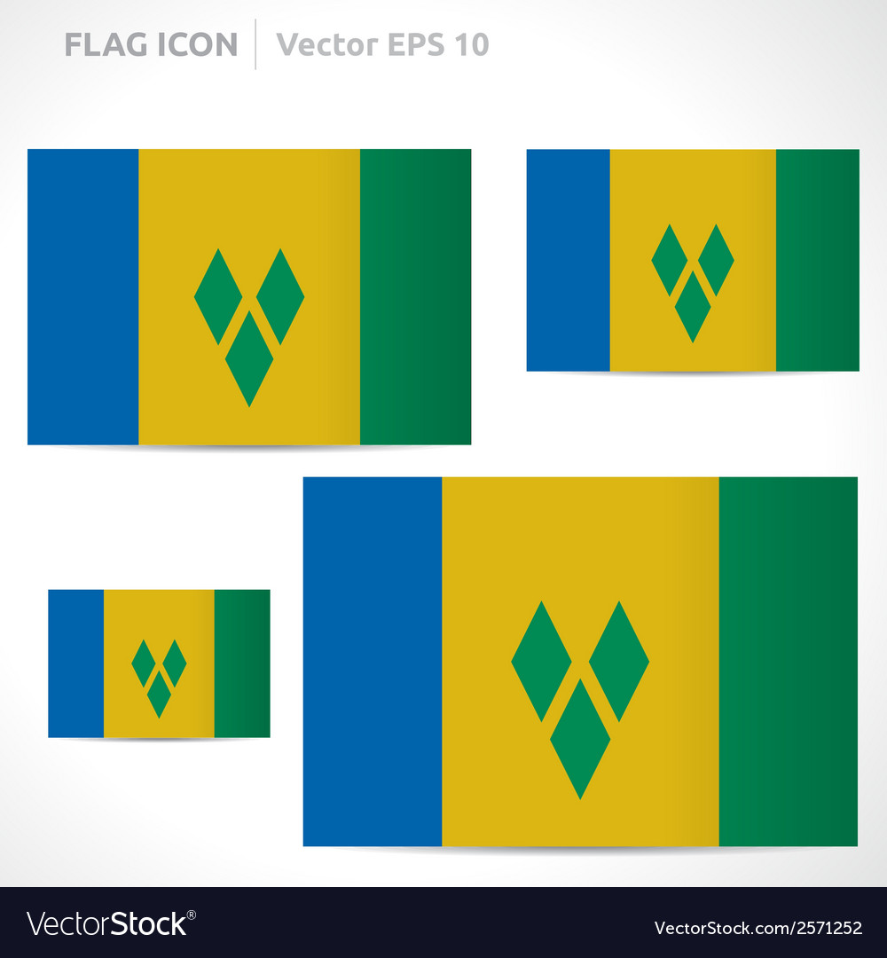 Saint vincent and the grenadines flag template vector | Price: 1 Credit (USD $1)