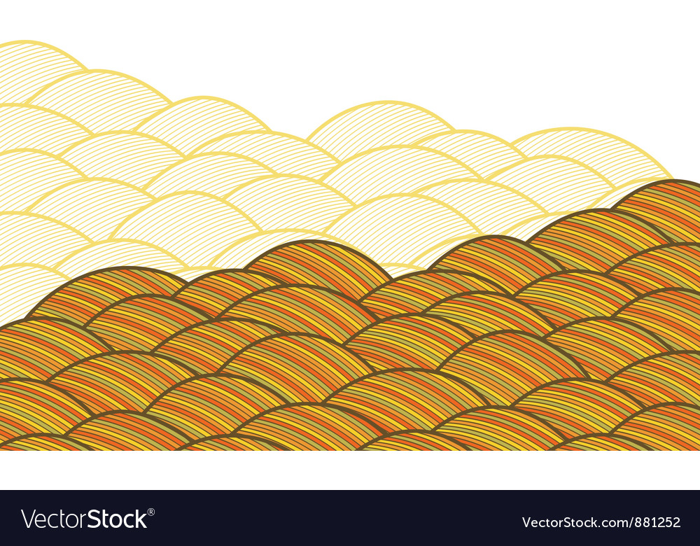 Seamless abstract hand drawn pattern waves vector | Price: 1 Credit (USD $1)