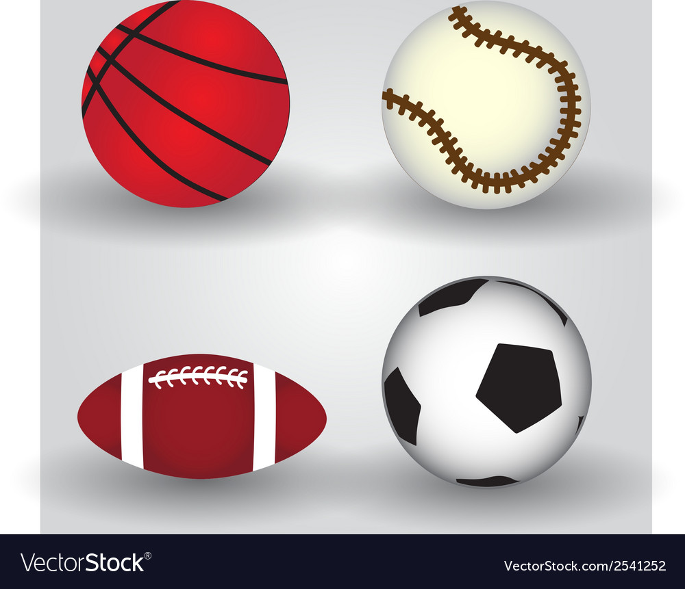 Sport balls icon set eps10 vector | Price: 1 Credit (USD $1)