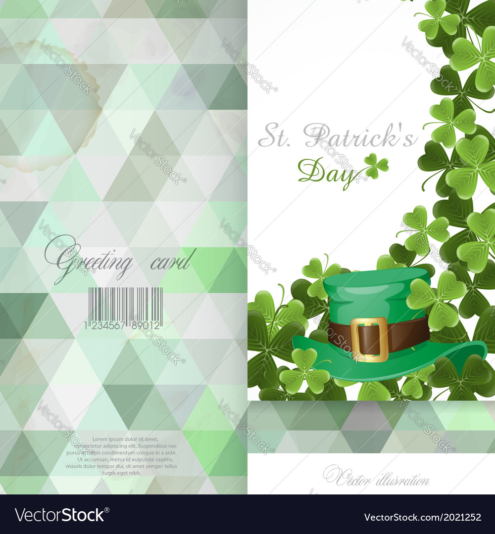 St patricks day background vector | Price: 1 Credit (USD $1)