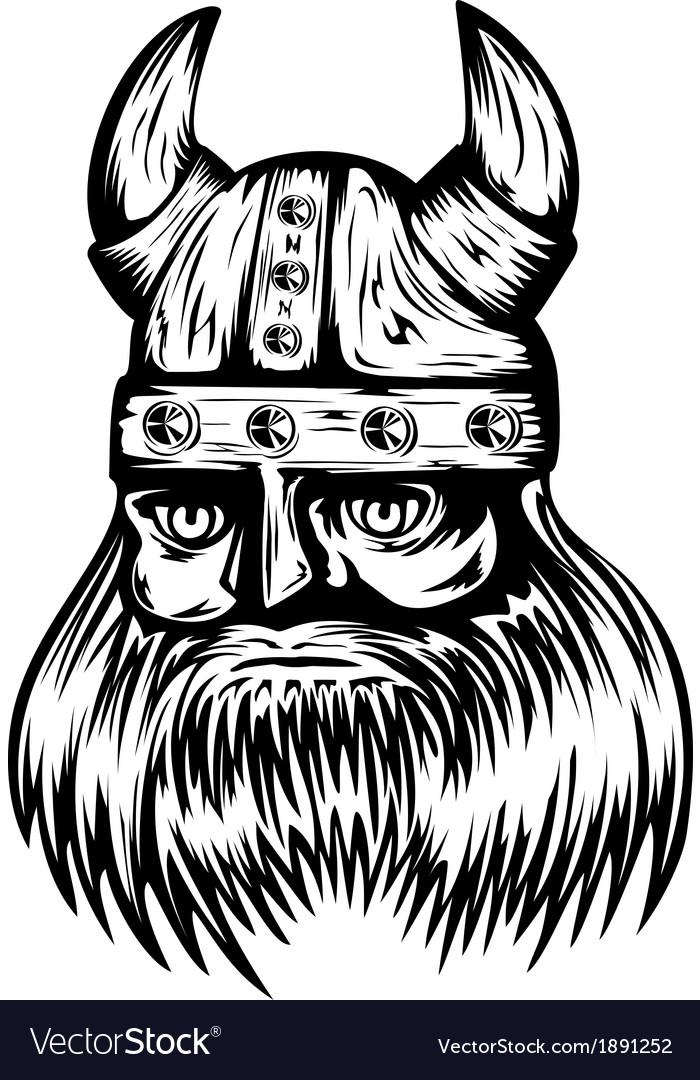 Viking in helmet vector | Price: 1 Credit (USD $1)