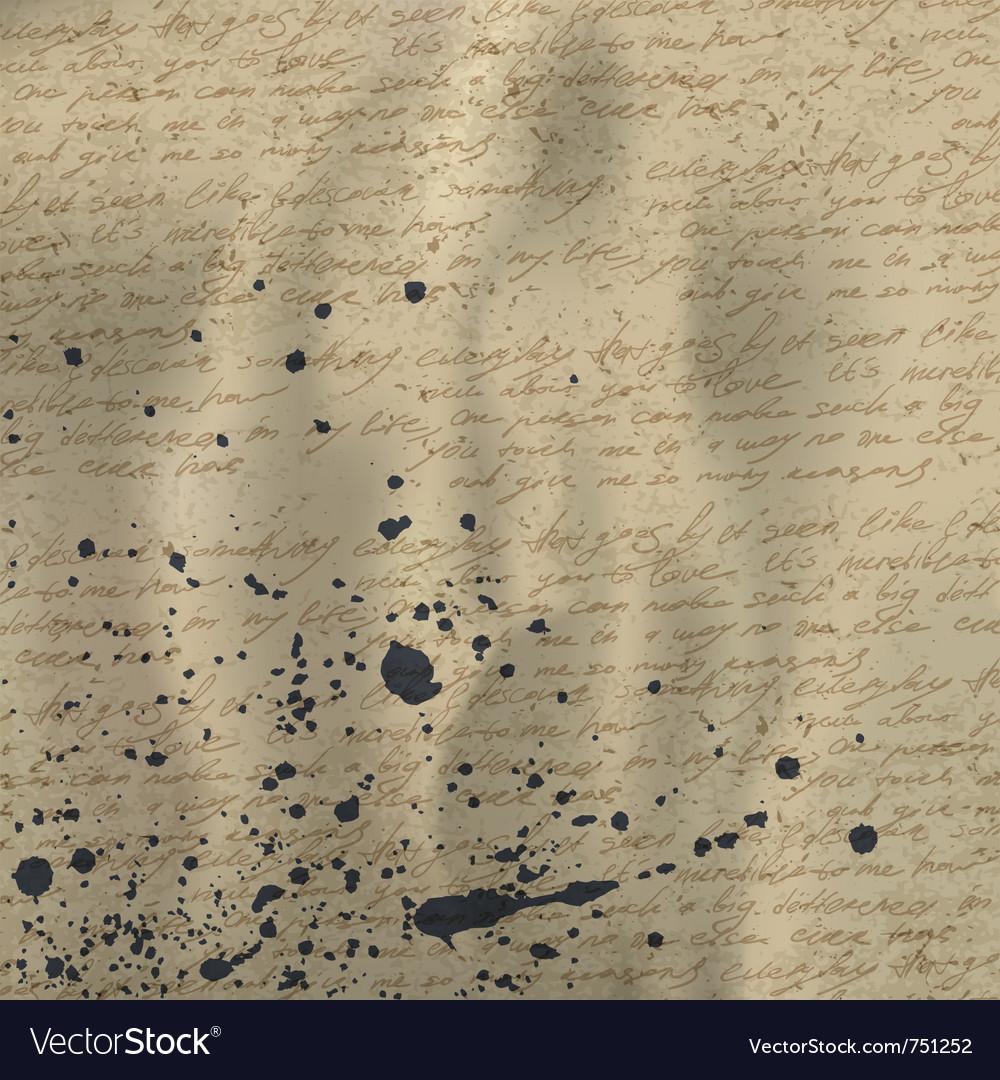 Vintage letter background vector   Price: 1 Credit (USD $1)