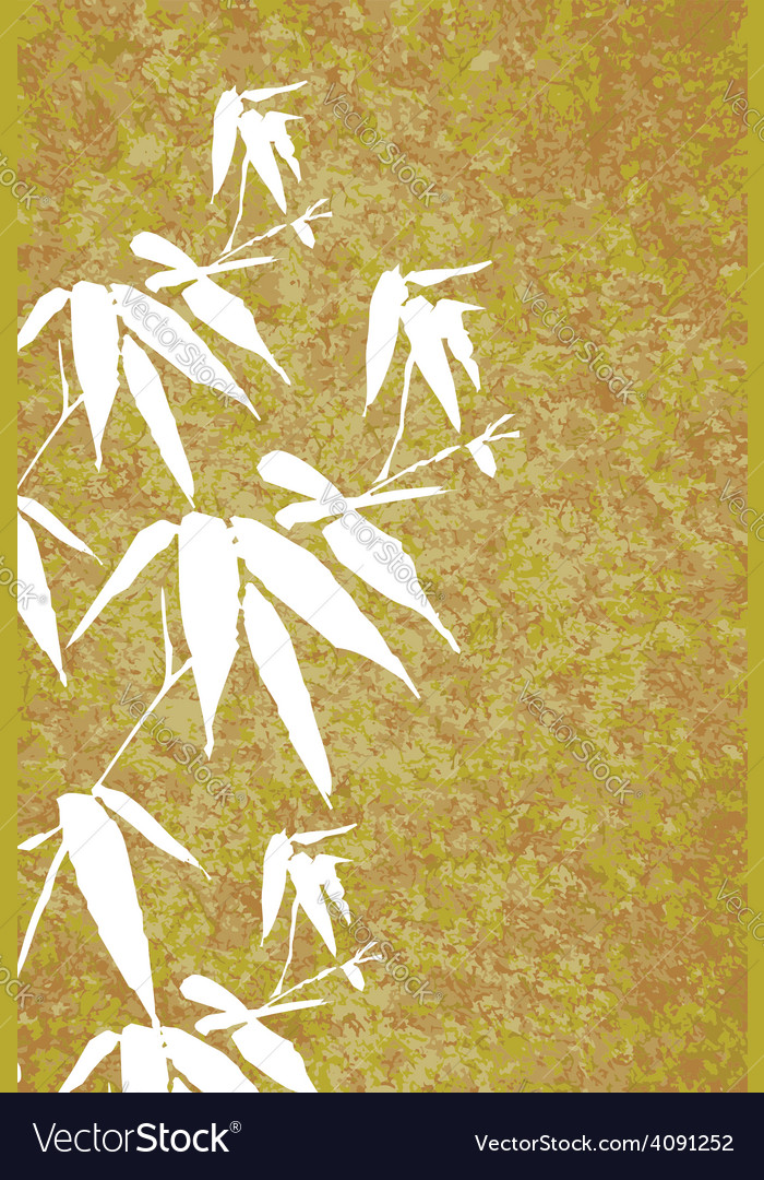 Zen bamboo vintage painting poster vector | Price: 1 Credit (USD $1)