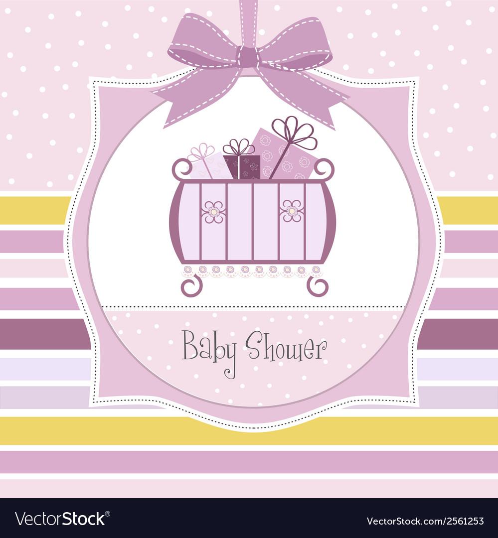 Baby girl shower invitation vector   Price: 1 Credit (USD $1)