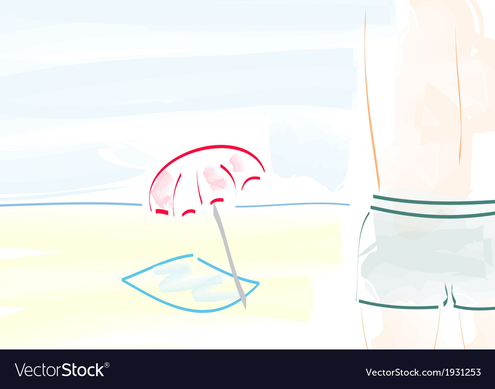 Beach boy vector | Price: 1 Credit (USD $1)