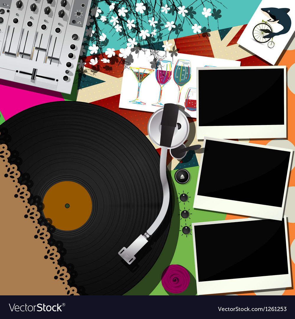 Dj party design vector | Price: 3 Credit (USD $3)