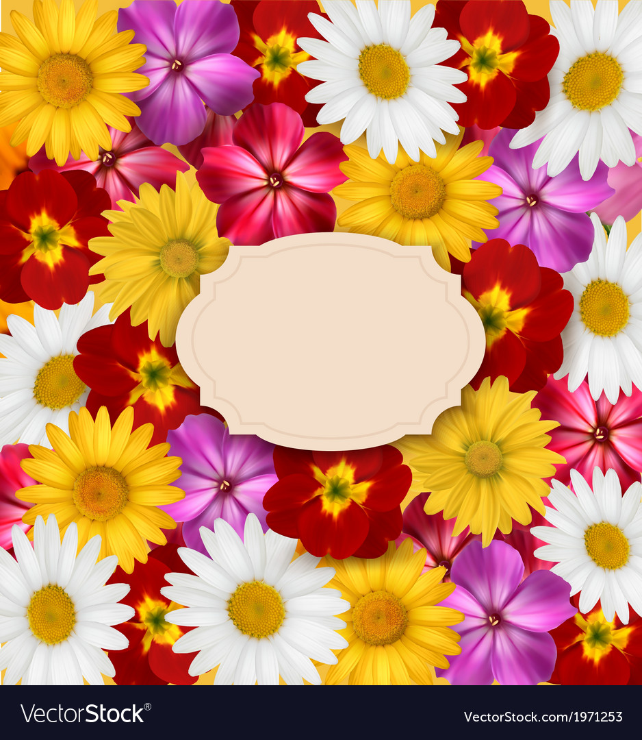 Flower background with a sign vector | Price: 1 Credit (USD $1)