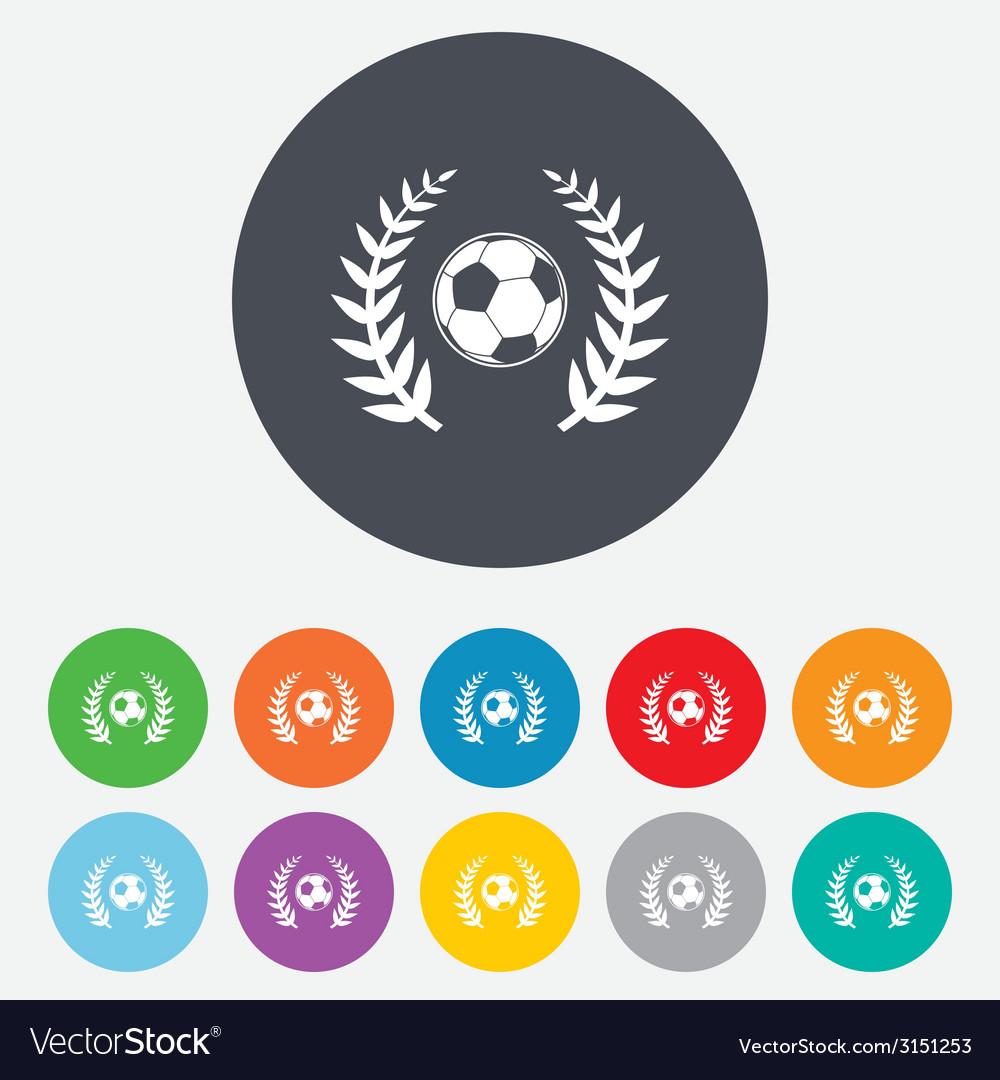 Football ball sign icon soccer sport symbol vector | Price: 1 Credit (USD $1)
