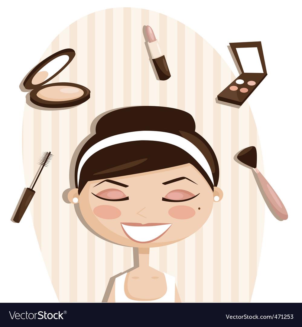 Makeup cartoons vector