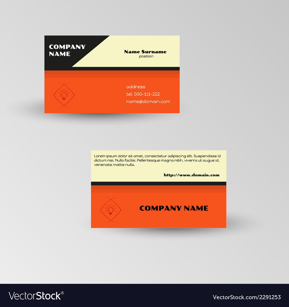 Modern red business card template vector | Price: 1 Credit (USD $1)