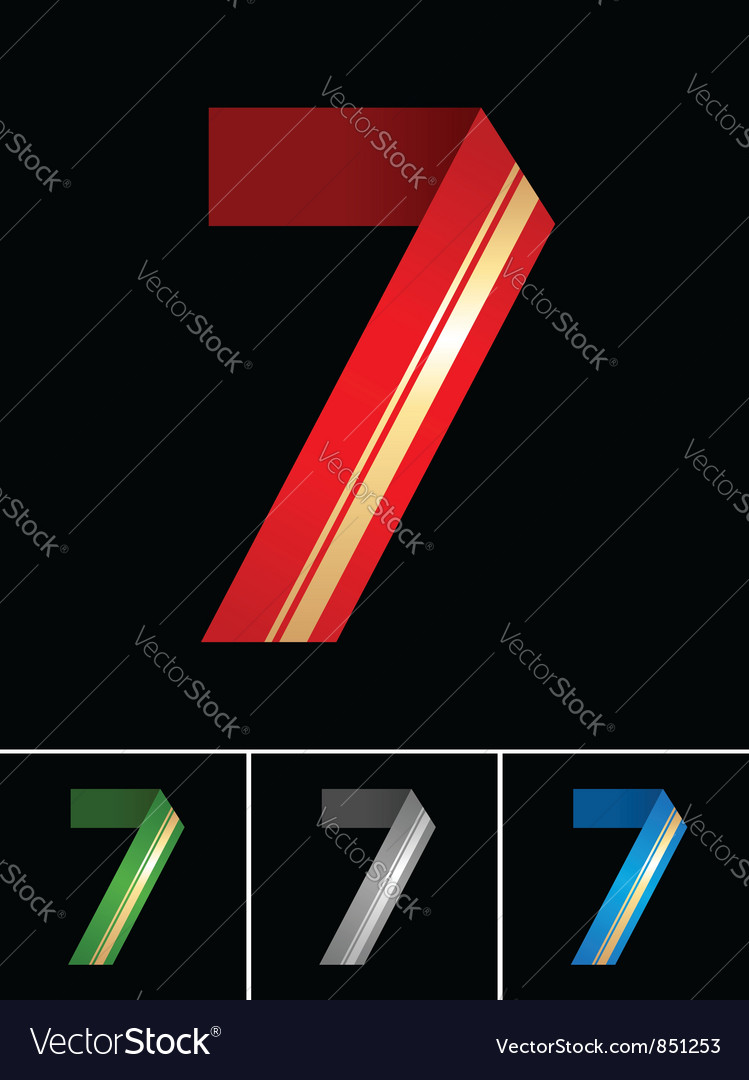 Numeral of paper tape - 7 vector | Price: 1 Credit (USD $1)