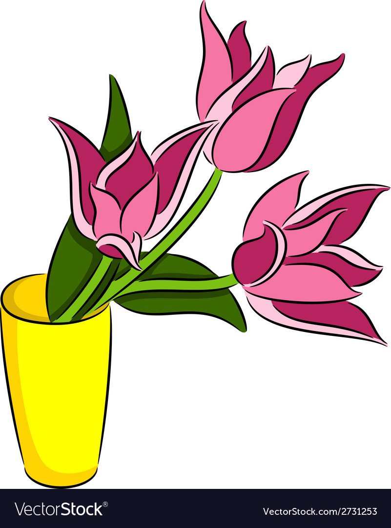 Tulips flowers vector