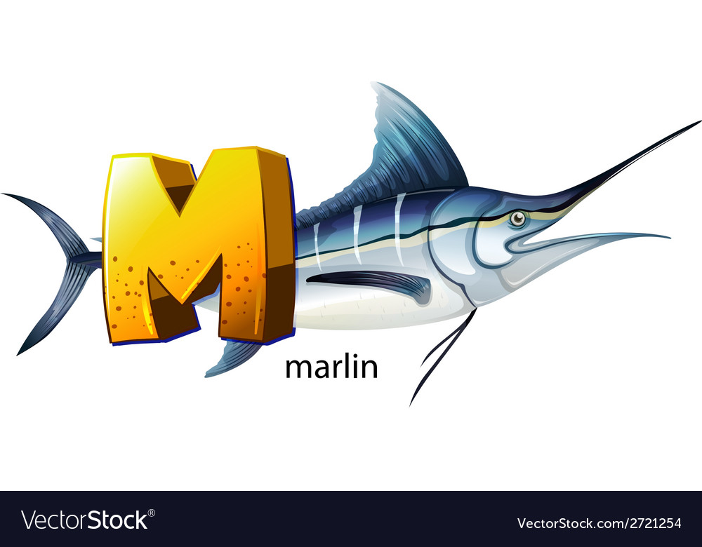 A letter m for marlin vector | Price: 1 Credit (USD $1)