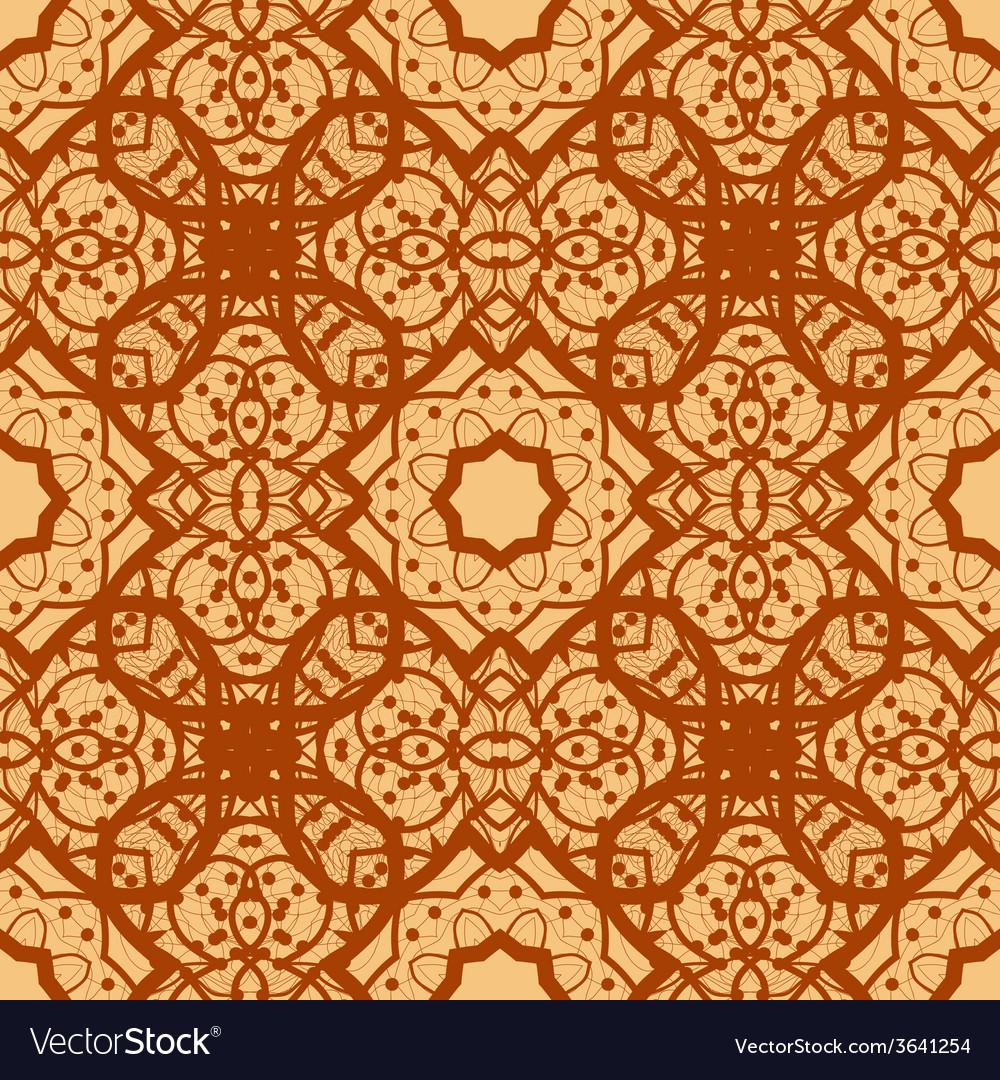 Arabian seamless background in brown color vinatge vector   Price: 1 Credit (USD $1)