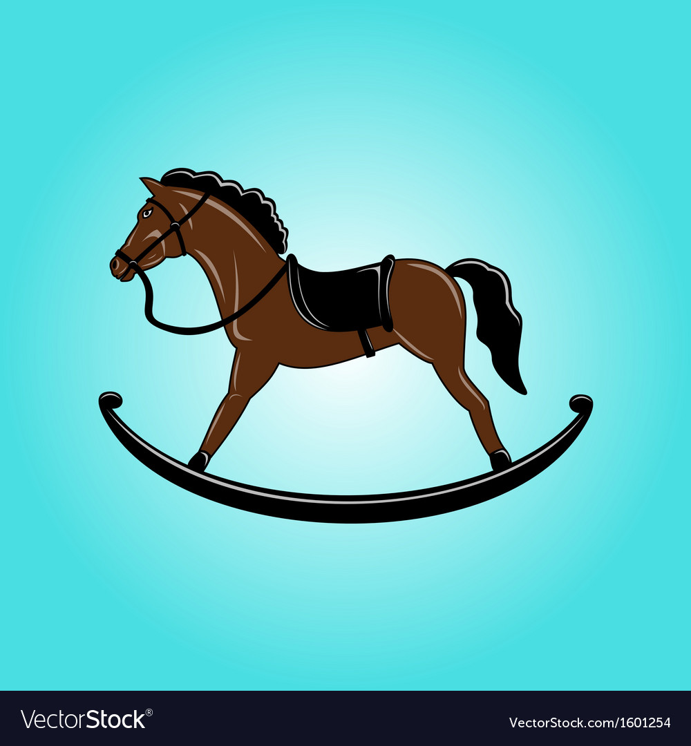 Brown toy rocking horse vector | Price: 1 Credit (USD $1)