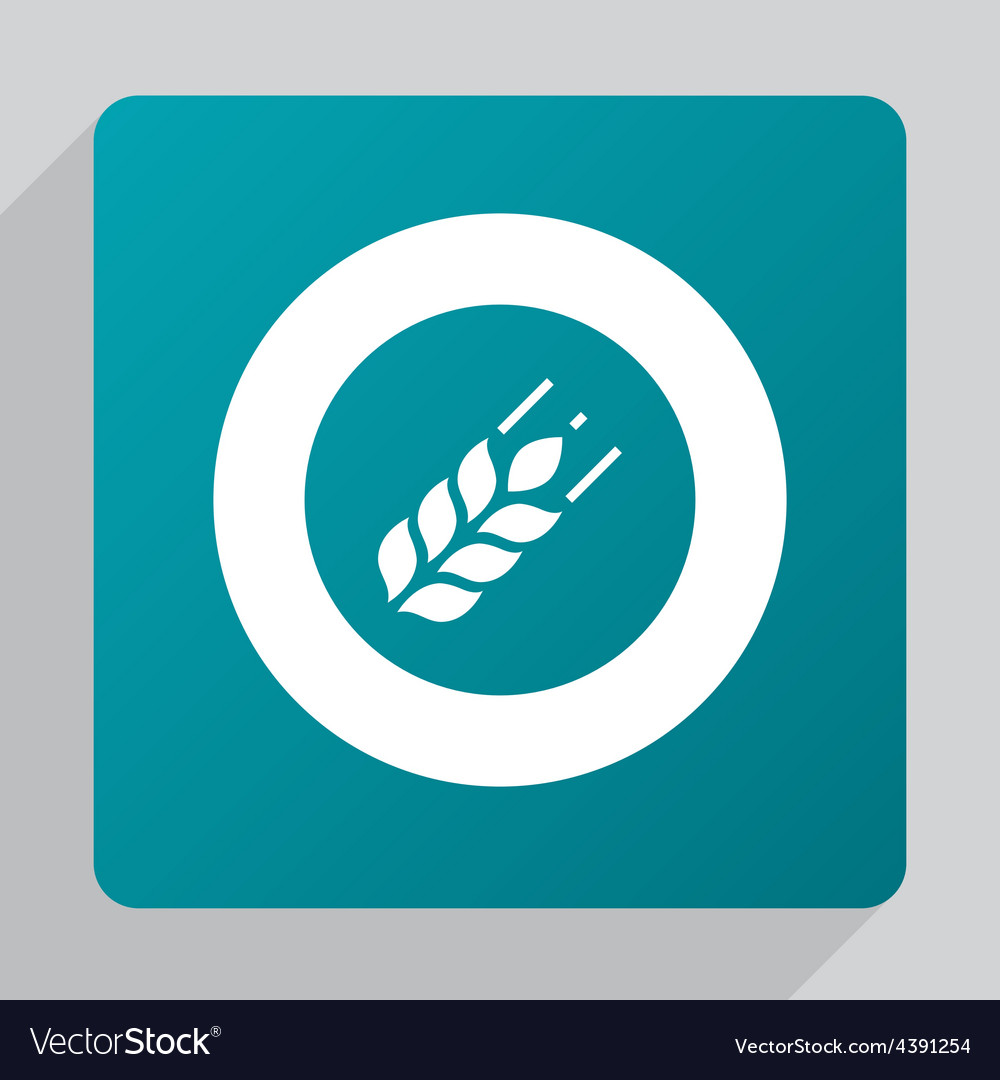 Flat agriculture icon vector | Price: 1 Credit (USD $1)