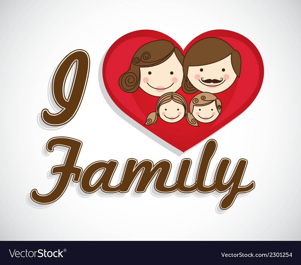Happy family consists of father mother girl and bo vector | Price: 1 Credit (USD $1)