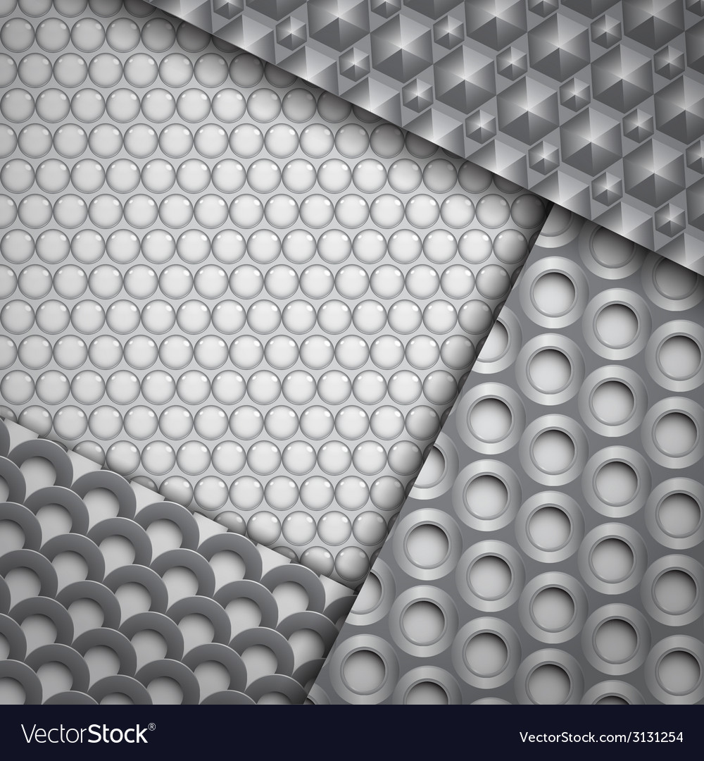 Set of several seamless carbon fiber patterns vector | Price: 1 Credit (USD $1)