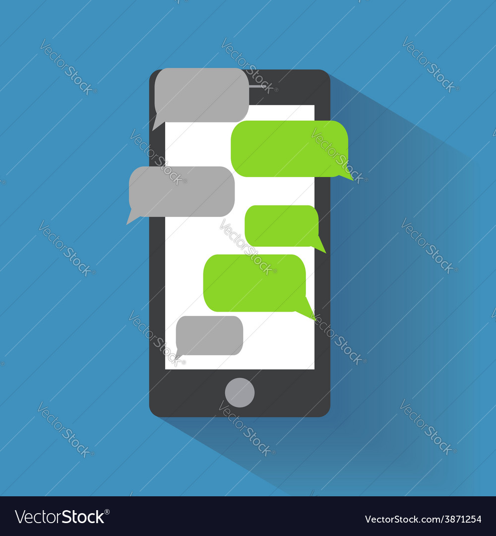 Smartphone with blank speech bubbles vector | Price: 1 Credit (USD $1)