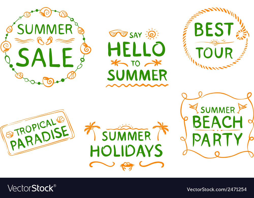 Summer design element vector | Price: 1 Credit (USD $1)