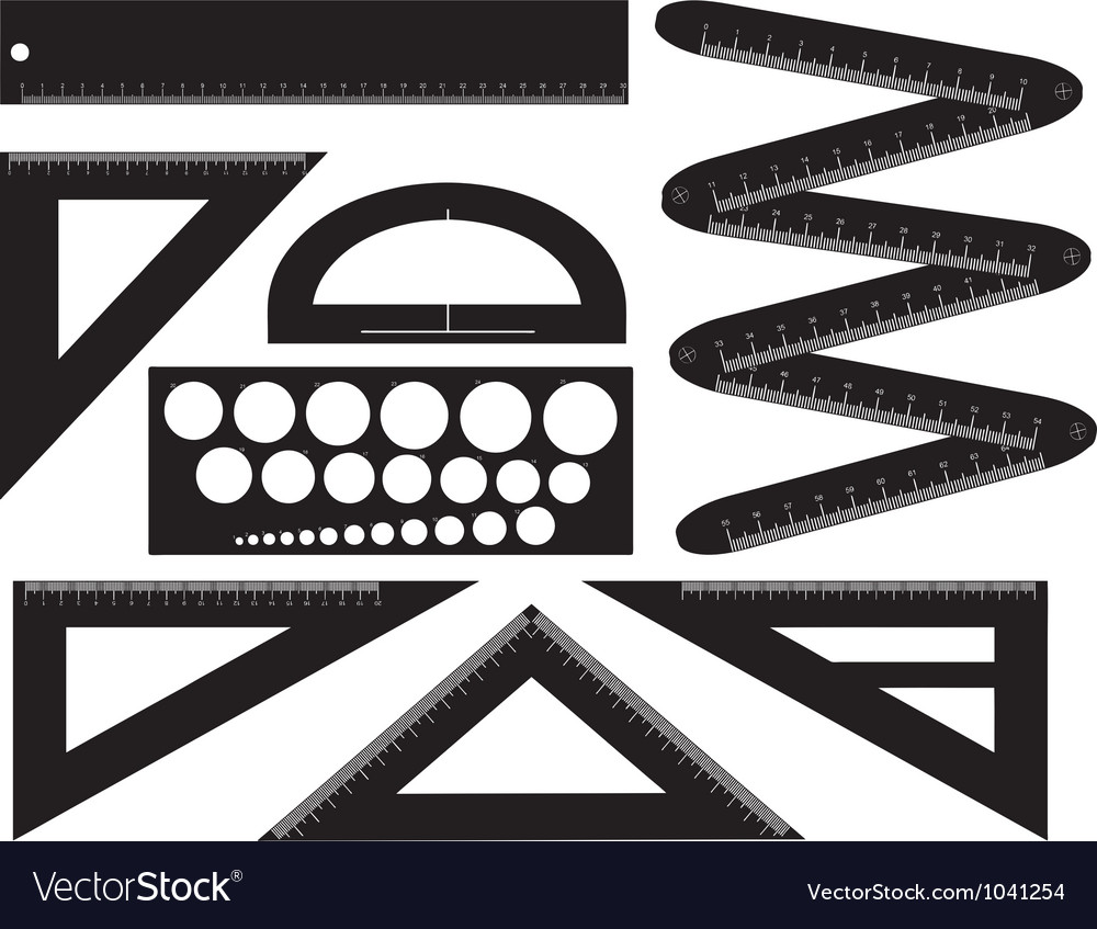 Technical drawing equipment vector | Price: 1 Credit (USD $1)