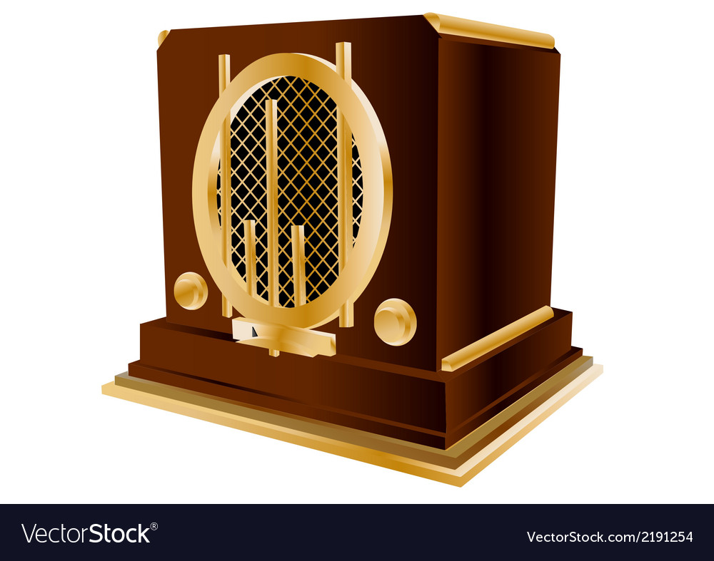 Vintage radio vector | Price: 1 Credit (USD $1)