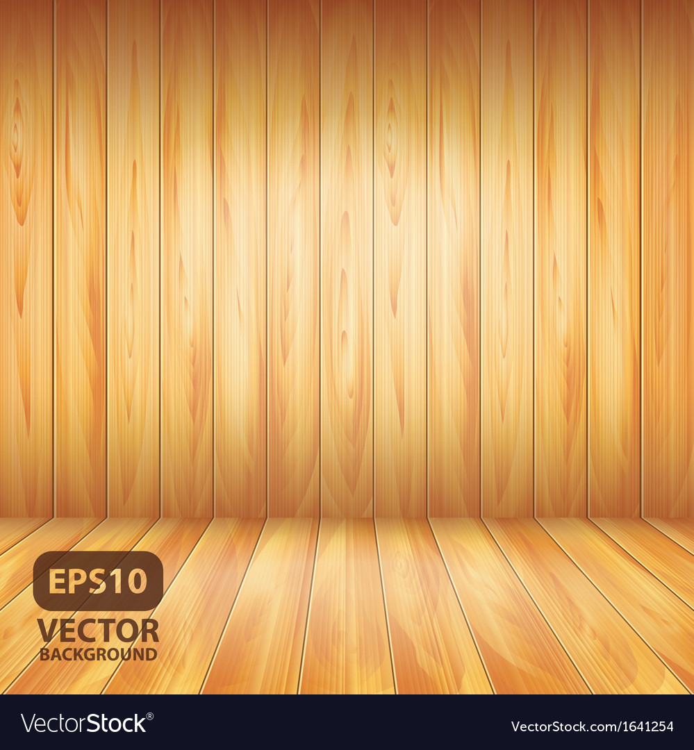 Wooden wall and floor vector | Price: 1 Credit (USD $1)