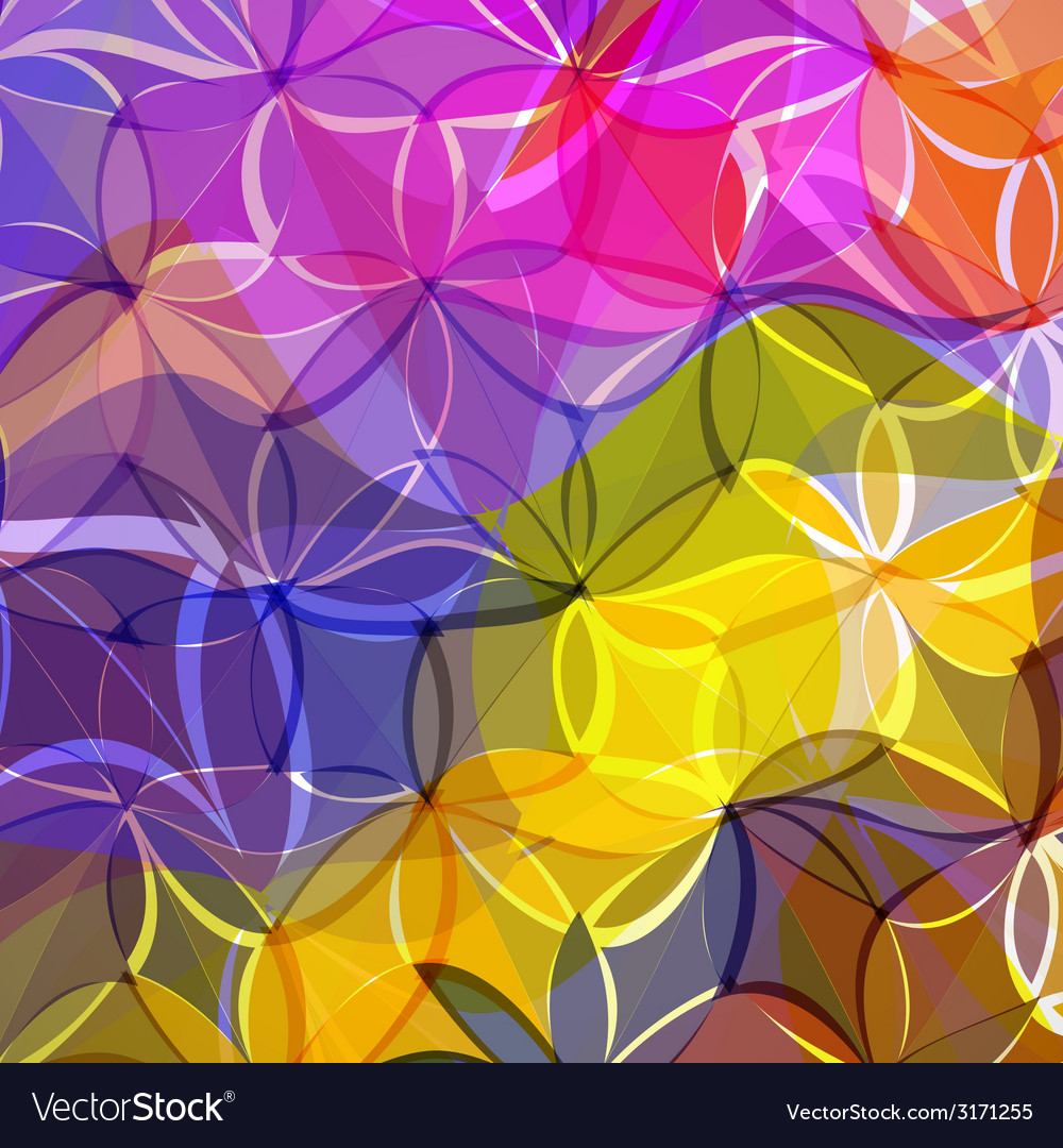 Abstract background of colored flowers vector | Price: 1 Credit (USD $1)