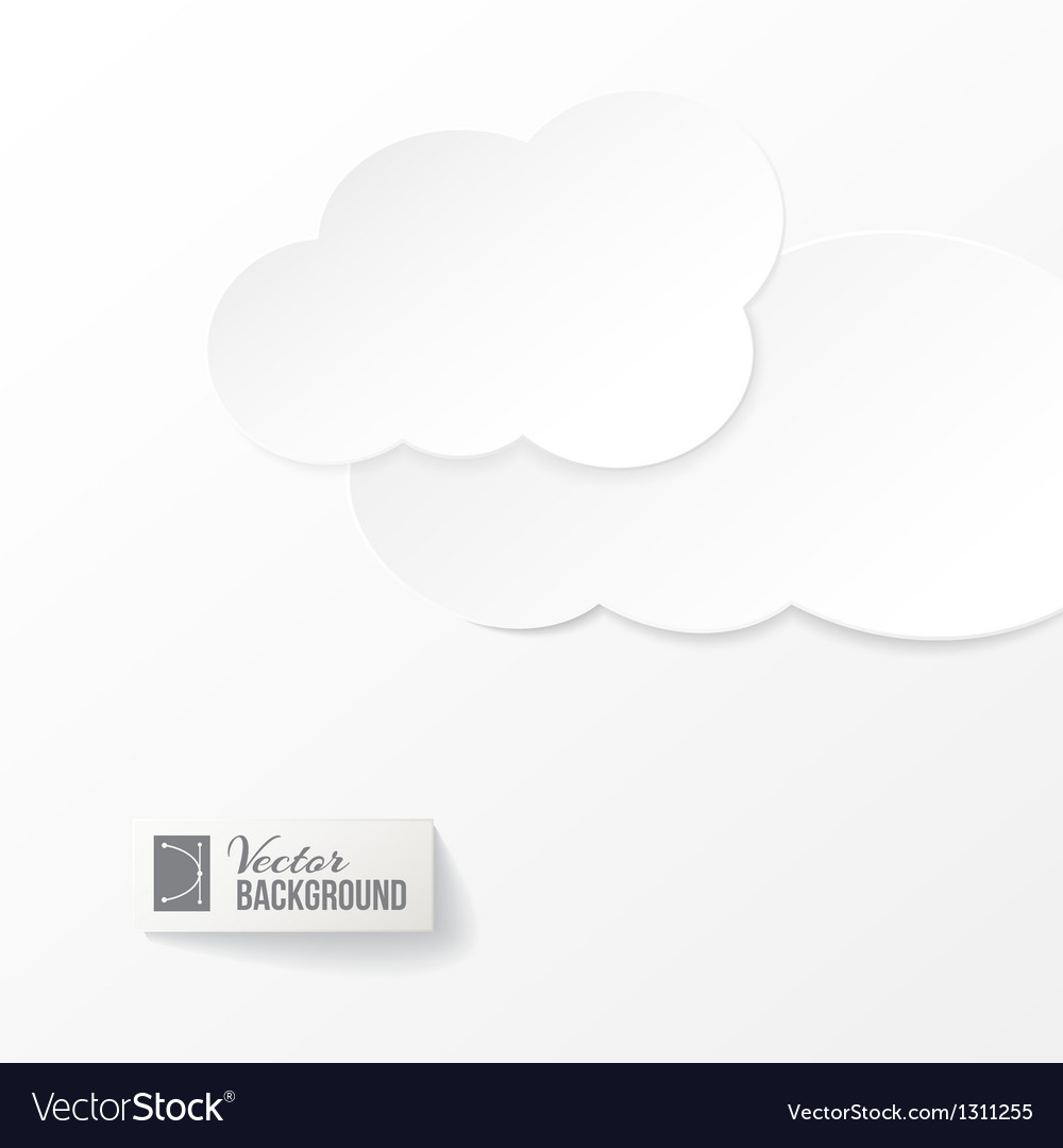 Abstract paper clouds background vector | Price: 1 Credit (USD $1)