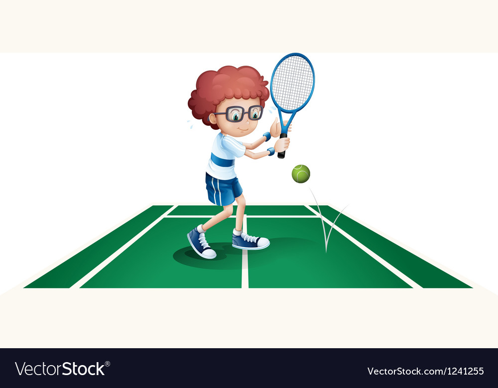An athletic boy vector | Price: 1 Credit (USD $1)