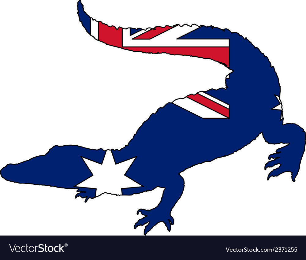 Crocodile australia vector | Price: 1 Credit (USD $1)