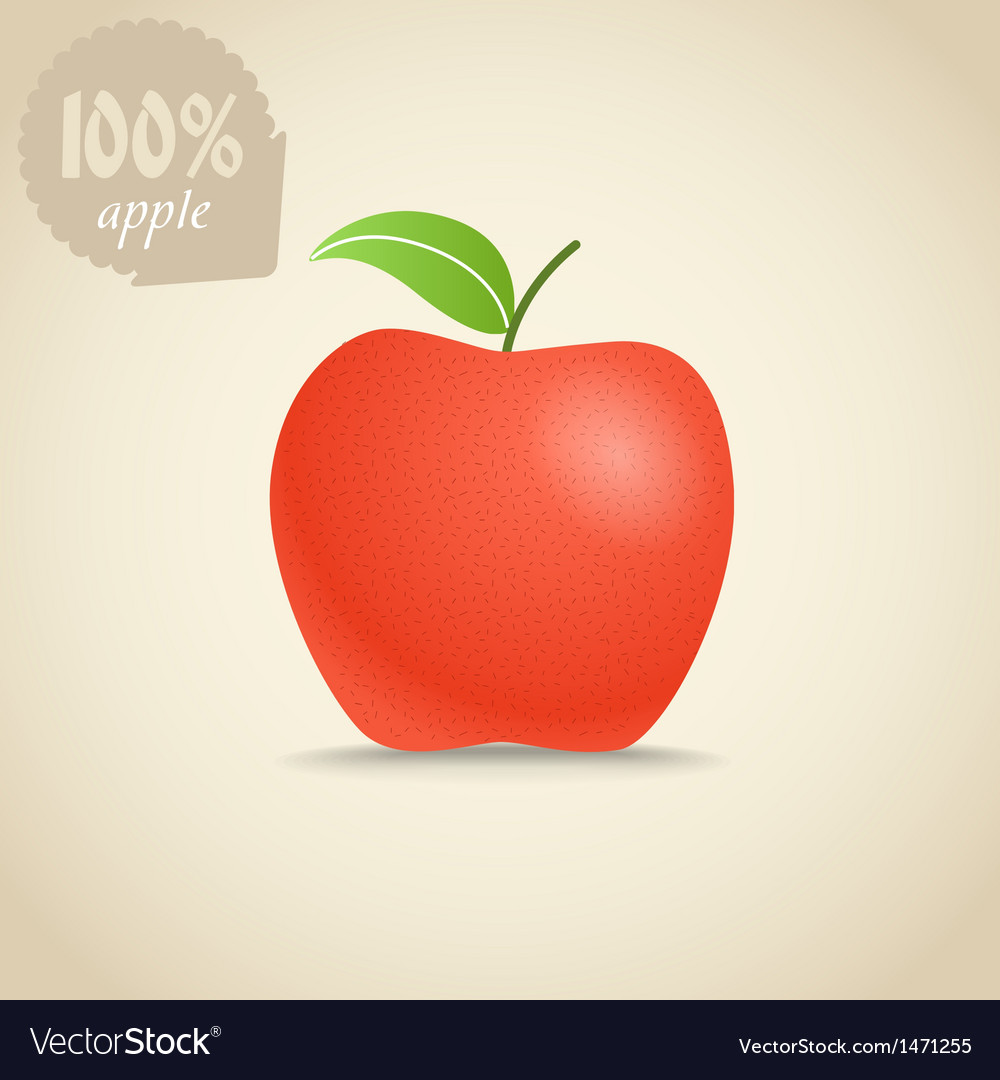 Cute fresh red apple vector | Price: 1 Credit (USD $1)