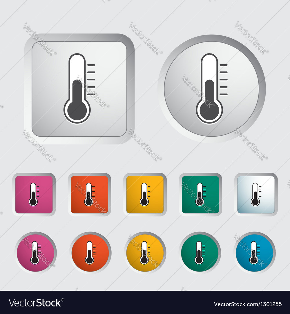 Thermometer icon 2 vector | Price: 1 Credit (USD $1)