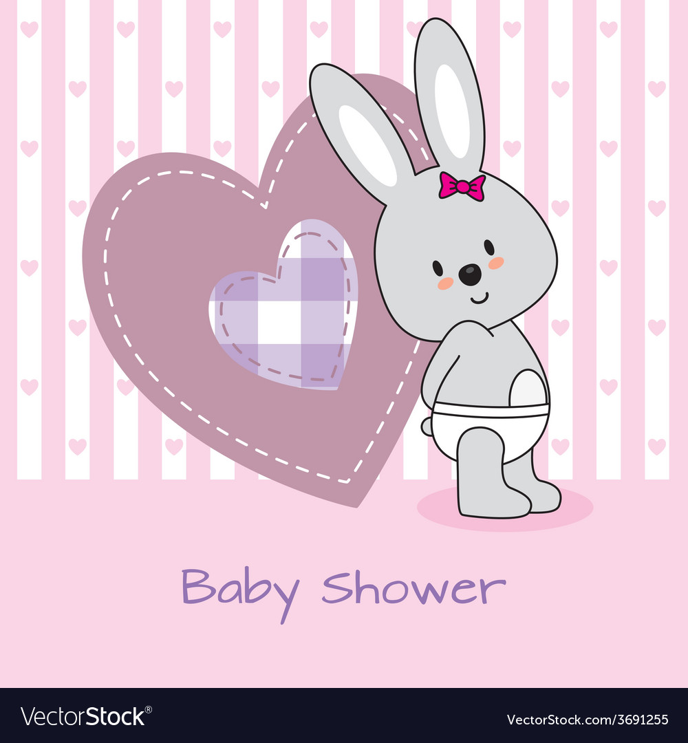 Rabbit and heart vector | Price: 1 Credit (USD $1)