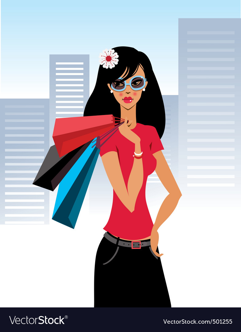Shopaholic vector | Price: 3 Credit (USD $3)