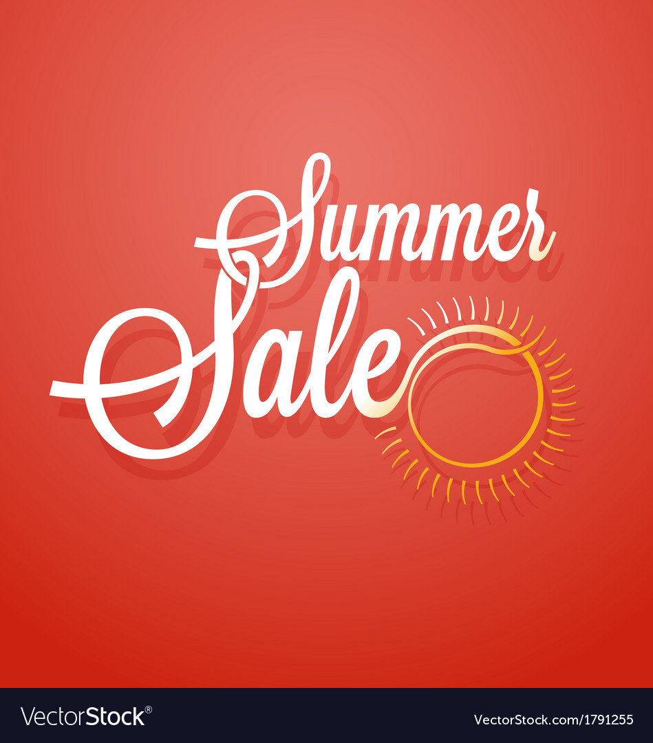 Summer sale announcement background vector | Price: 1 Credit (USD $1)